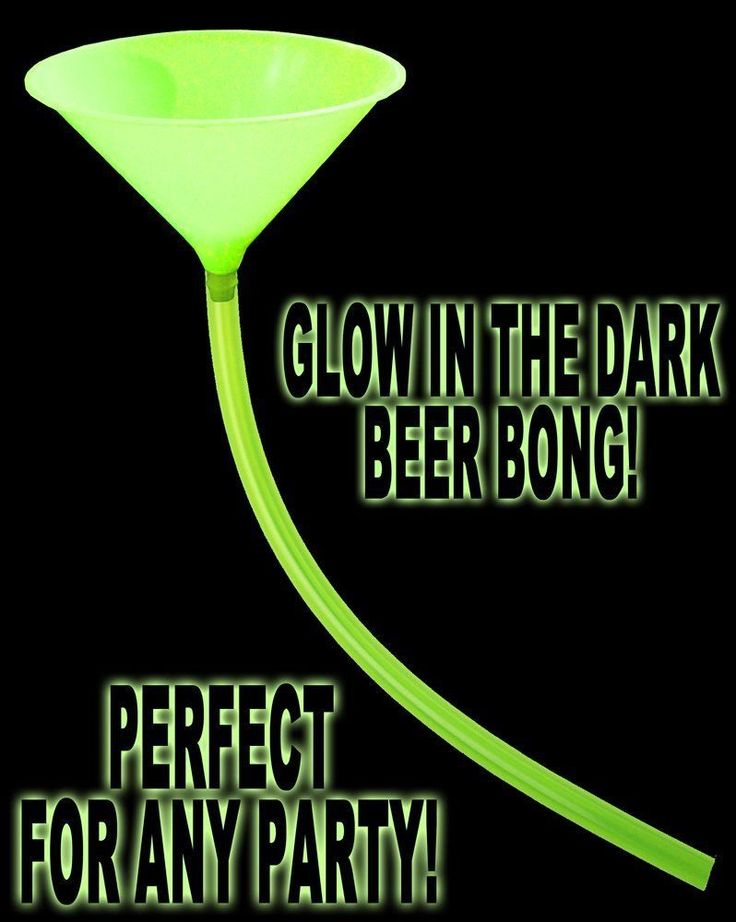 Glow In The Dark And Under Black Light Beer Bong