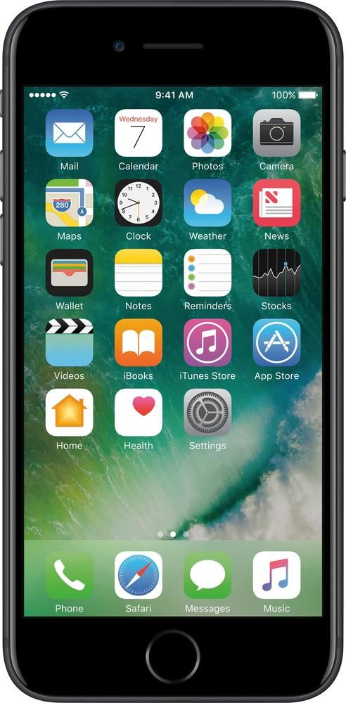 Simple Mobile - Apple iPhone 7 Plus 4G LTE with 32GB Memory Prepaid Cell Phone - Black