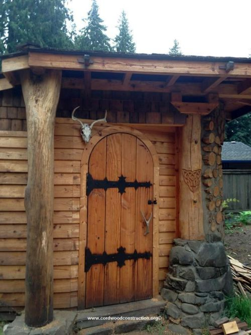 17 best images about cordwood construction on pinterest for Cordwood shed