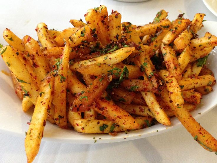 Chaat Masala Fries (Also known as Finger Chips)- Fries covered in amchoor (a sweet/sour powder made from green mango), kala namak (black salt), hing (asafetida), cumin, coriander, red chili, dried ginger, salt, and pepper.