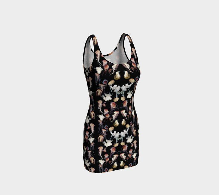 """Bodycon+dress+""""Jellyfish+Dark+Soft""""+by+Amy+Jeanne+Wpg"""