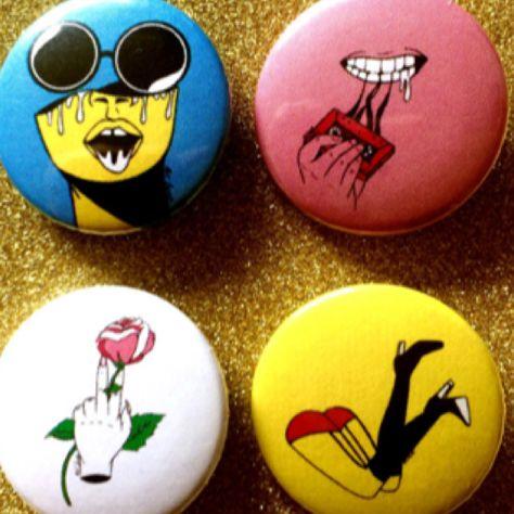 Button badges by mot collins