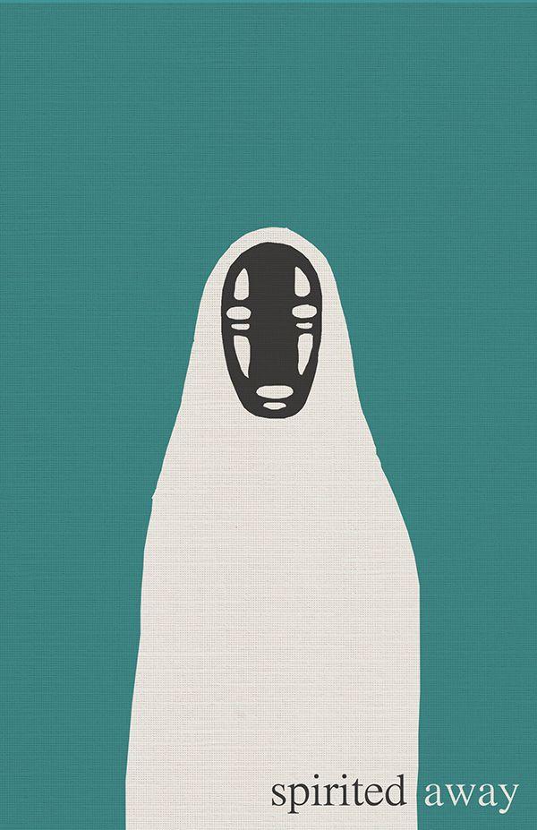 Spirited Away (2001) ~ Minimal Movie Poster by Michael Kokenos #amusementphile
