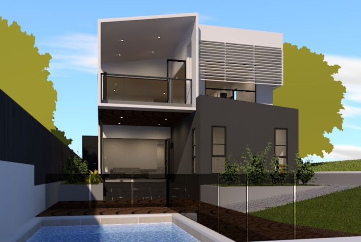 Love the back of this new home design in Greenslopes.