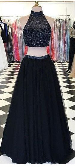 2016 Long prom dresses,Two Pieces homecoming dresses,Black prom dresses,Halter Prom Dresses, Prom Gowns,Modest Evening Dresses,Open Back Party Dresses, Charming Prom Dresses,2 Pieces homecoming dresses,cocktail dresses,party dresses,graduation dresses