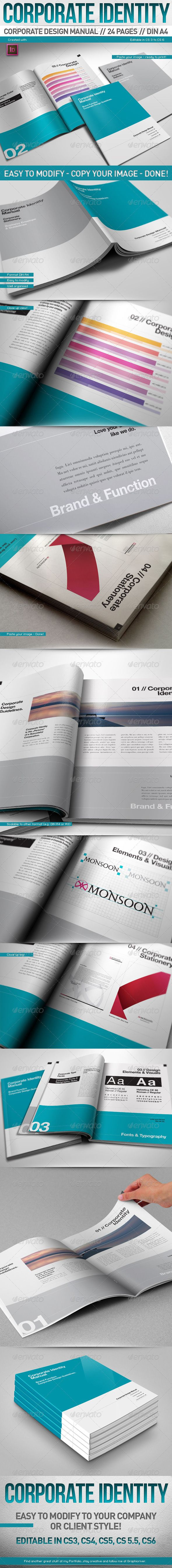 Corporate Design Manual Guide DIN A4 // 24 Pages