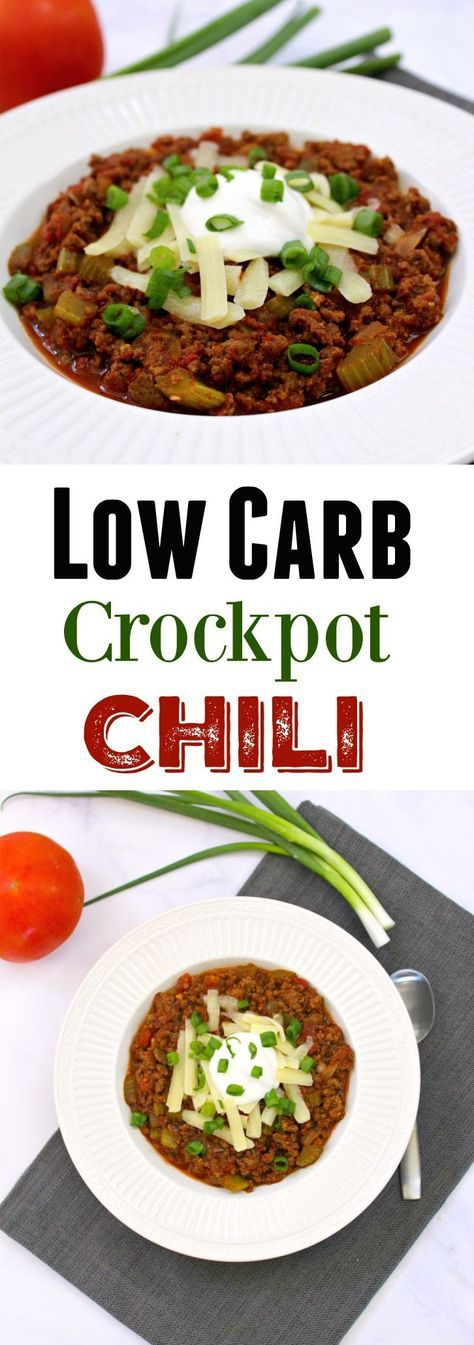 A Low Carb Gluten Free Crockpot Chili recipe with amazing seasonings and flavors, without all the beans to kick start or maintain a low carb lifestyle. Chili is one of my favorite meals, and this slow cooker Chili is easy to make, freezer friendly, family friendly and makes for delicious leftovers for days.