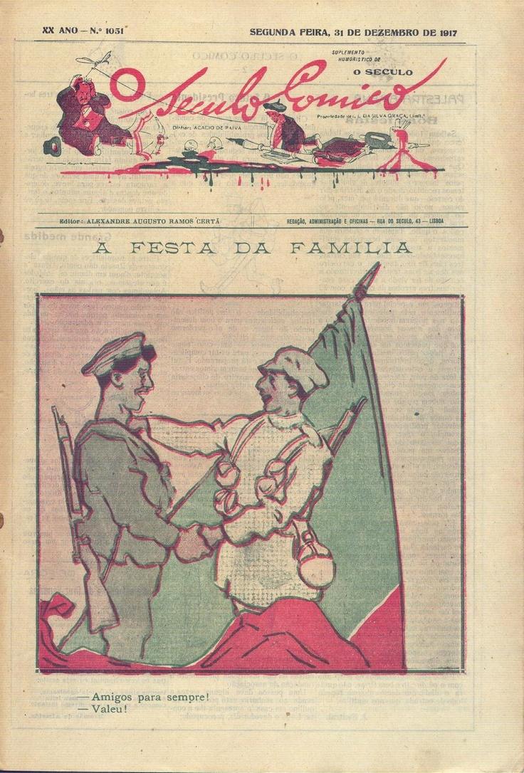 Ilustração Portugueza, Nº 619, Dezembro 311917 - 12 on Flickr.  Click image for 877 x 1295 size.Illustration by Portuguese artist Stuart Carvalhais.