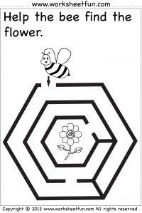 Lente - help de bij om de bloem te vinden