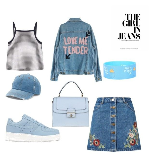 The girl in jeans by fdshahnaz on Polyvore featuring polyvore, fashion, style, MANGO, Miss Selfridge, NIKE, Dolce&Gabbana, Mudd and clothing