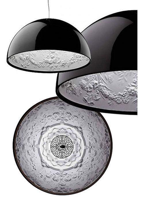 Oh I so have a problem with the boring inside of dome lights so YAYYYYY for this design by Skygarden - Flos,  Marcel Wanders
