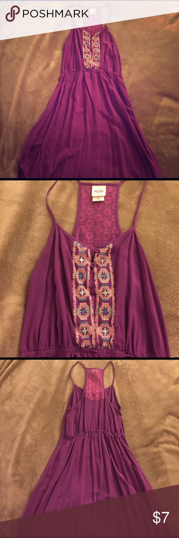 💜Purple boho racerback sundress 💜 Super cute short sundress. Brand is Mossimo by target. Great used condition. 💕 Mossimo Supply Co Dresses Mini