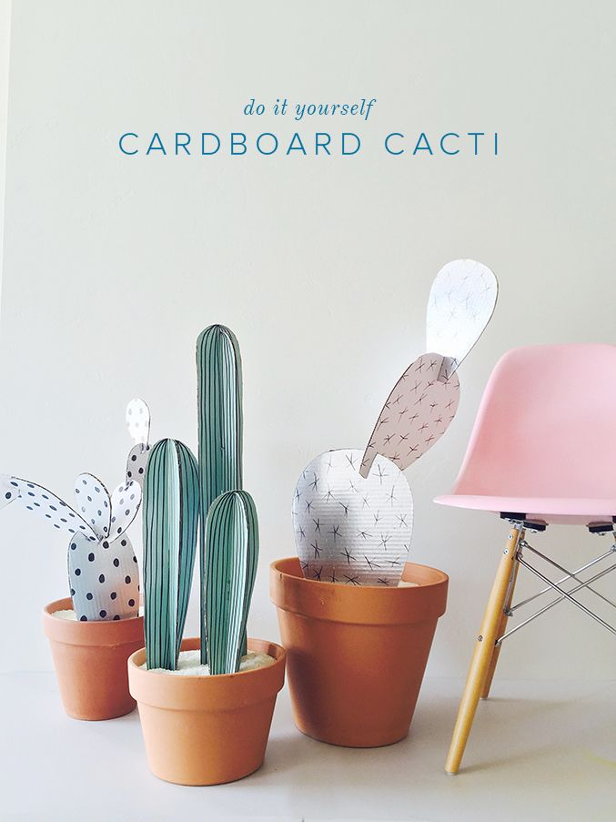 Create some no-kill plants for your house with these paper cacti. Complete with template and instructions.