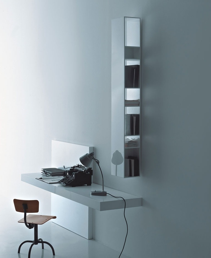 Awesome Contemporary Secretary Desk / In Wood / Wall Mounted / By Piero Lissoni  MODERN Porro