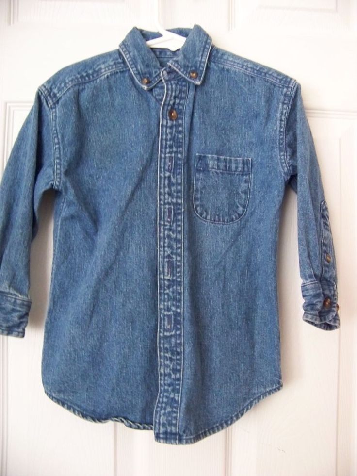 Toddler Girls/Boy Denim Shirt, Size 3 with Pocket on Left Front Side #GenuineClassClub #Shirt #Casual