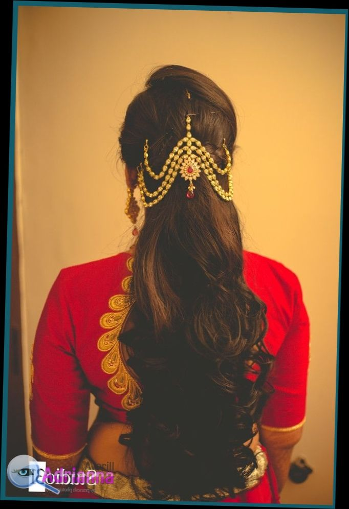 Indian Hairstyles For Long Hair In Saree Open Up Hairstyles Might Seem Gorgeous With Saree On R Indian Wedding Hairstyles Hair Styles Indian Bride Hairstyle