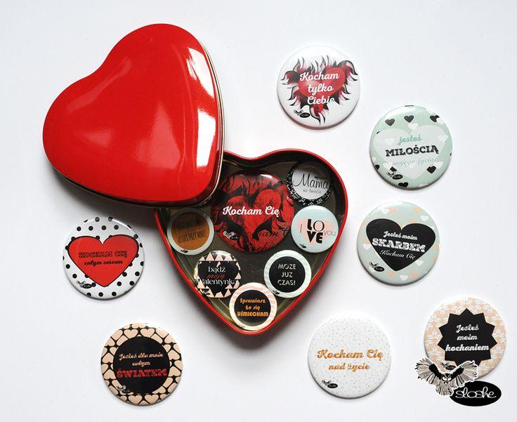 Serce metalowe z 8 magnesami dla bliskiej Ci osoby  Walentynki