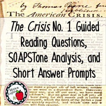 thomas paine the crisis no 1 rhetorical analysis