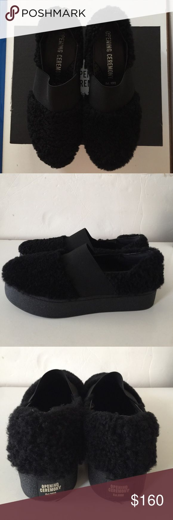 Opening ceremony shoes wear once Size7,fit 6.5-7 .all black color,.I need to say both side of the shoes have little difference ,all info in the picture Opening Ceremony Shoes Sneakers