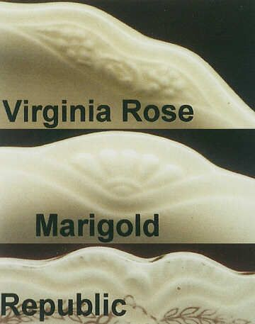 Virginia Rose by Homer Laughlin--it's the shape not the pattern.