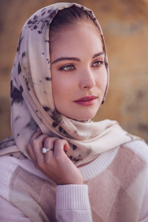 The Wedding Scarf styled as a glamorous head scarf. Your ultimate bridal heirloom. www.theweddingscarf.com Styling and Production by KOS Communications www.koscommunications.com.au