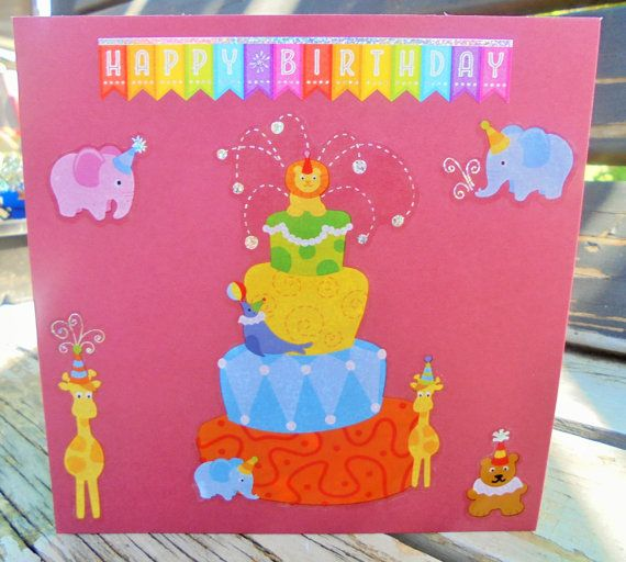 Party Animals  handmade card FWB birthday card by RogueKissedCraft