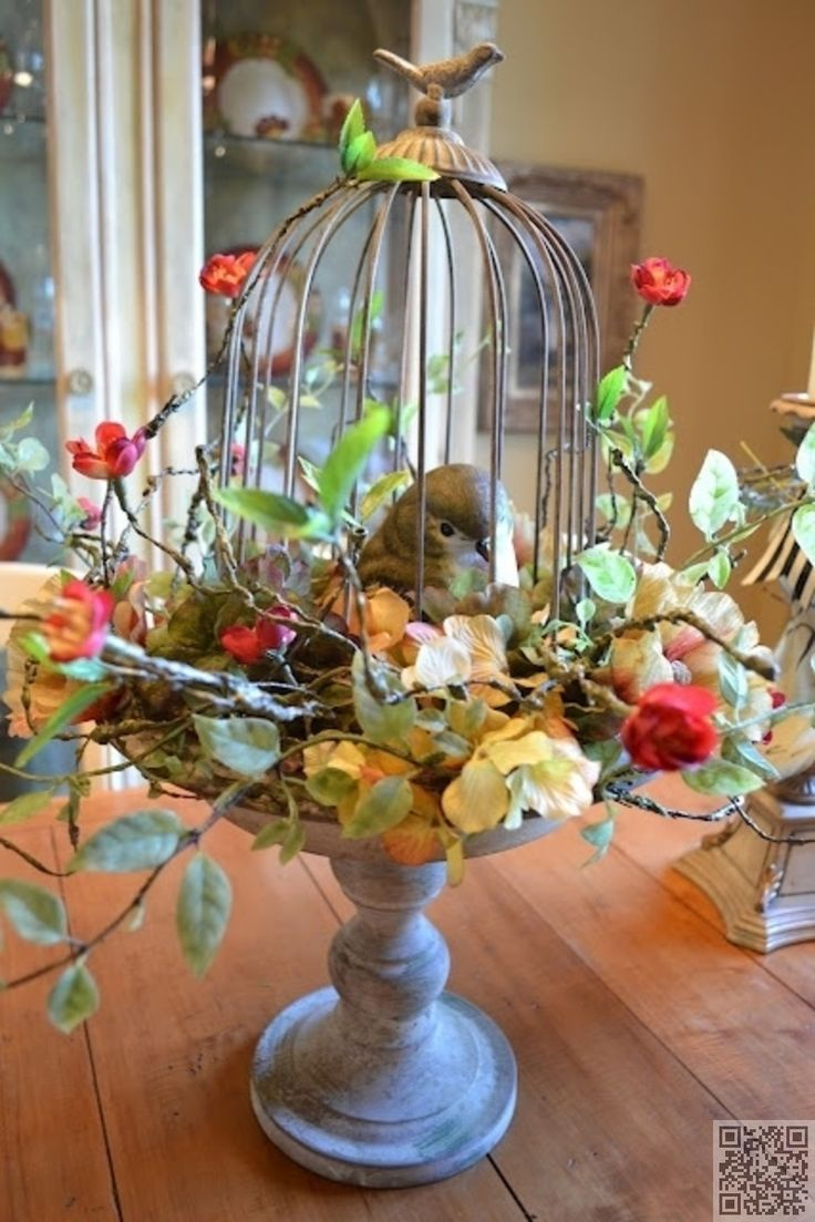 Fall Birdcage Centerpieces -  birdcage table centerpiece 27 alternative uses for bird cages that