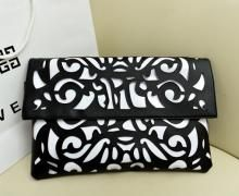 Lauren Clutch - Black & White