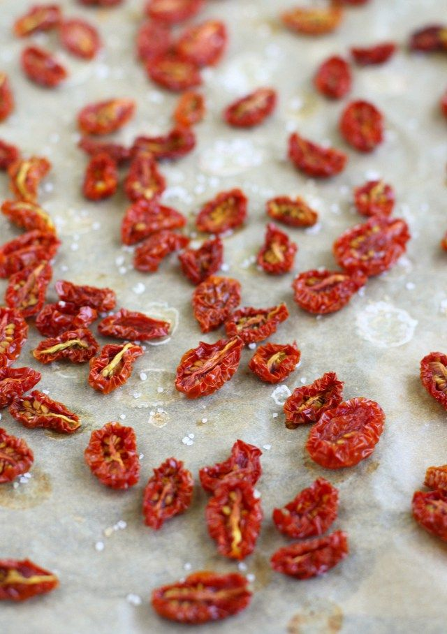 How to make oven-dried cherry tomatoes. These little gems are bursting with summer flavor!