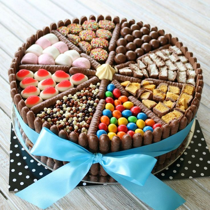 An easy chocolate birthday cake decorated with chocolate biscuits, lollies, marshmallows and chocolates! This really is a chocoholics delight!