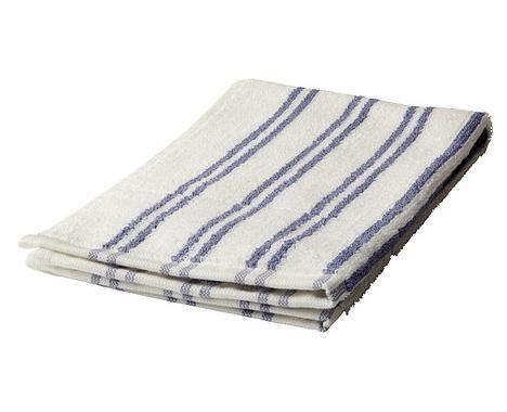 Aciugamano ospiti righe blu