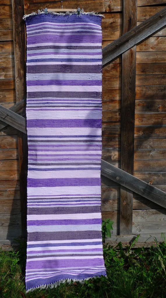 Lilac  handvowen rag rug by mimamartina on Etsy