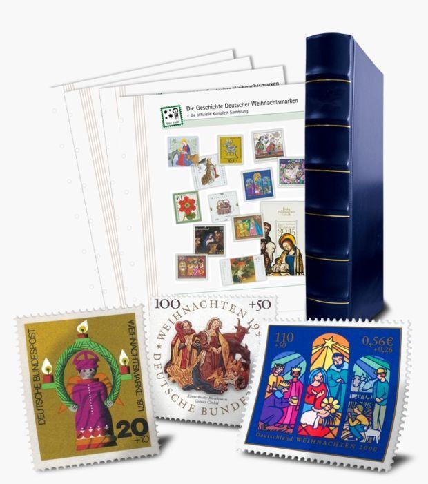 BMS-Adventskalender Türchen 6: Komplettsammlung deutscher Weihnachtsbriefmarken