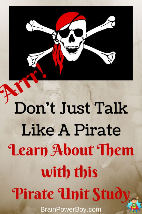 Learn About Pirates Matey with this Pirate Unit Study. Lots of fun ways to learn.