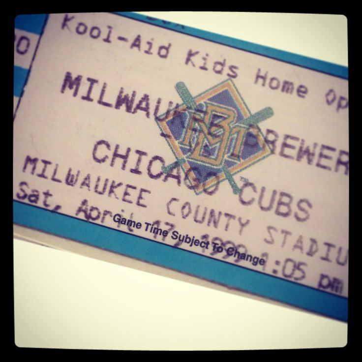 """It's #ThrowbackThursday and today we're partying like it's 1999. Here's your chance to score Field Outfield tickets for the #Brewers vs. Cubs game on Friday, April 25 for 1999 pricing—just $18! Click here and enter """"THROWBACK"""" as the coupon code on brewers.com.  #TBT"""
