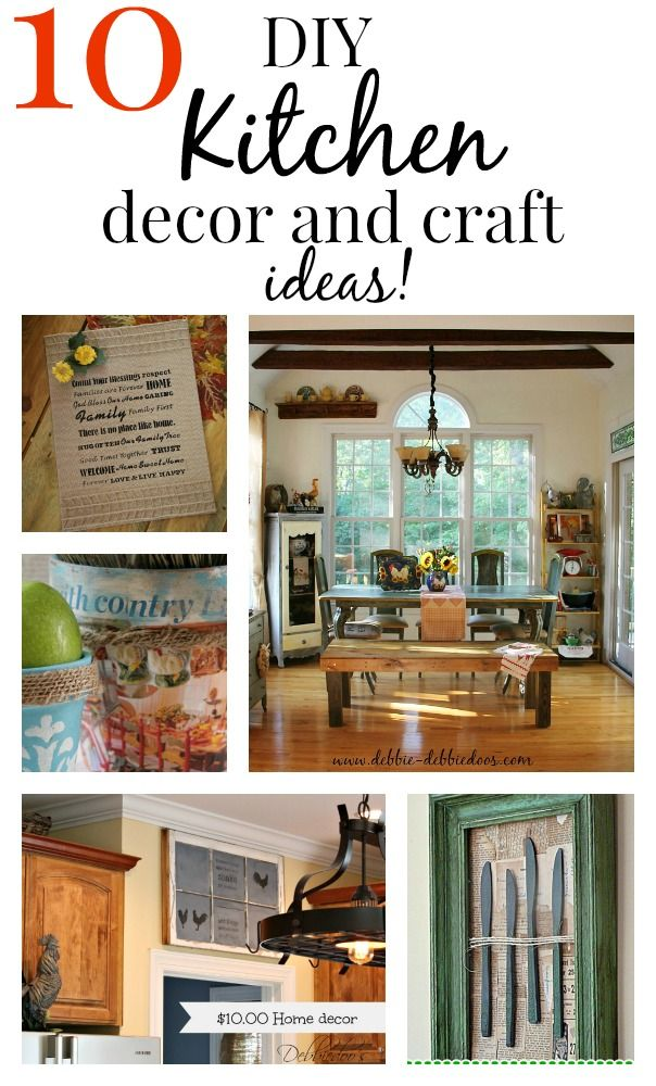 10 Easy diy Kitchen craft decor ideas. All budget friendly and so simple anyone can do!