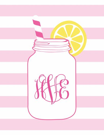Mason jar monogram wallpaper