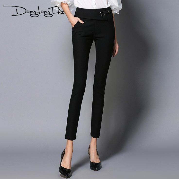 Cheap pencil pants, Buy Quality summer pants directly from China designer womans pants Suppliers: Dongdongta New Original Design Women Pants 2017 Fashion FullLength Pencil Pants Spring Summer Pants Solid Color Mid Waist Pants