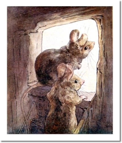 Beatrix Potter II - Beatrix Potter - The Tale of Two Bad Mice - 1904 - Mice Get Ready to go into Nursery Painting