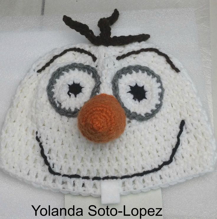 "How to Crochet ""Frozen"" inspired Snowman hat ( video one )"