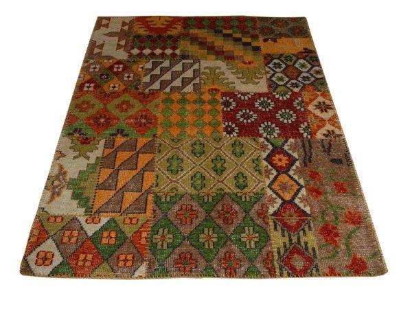 Multifarget vevd teppe med asymetrisk mønster