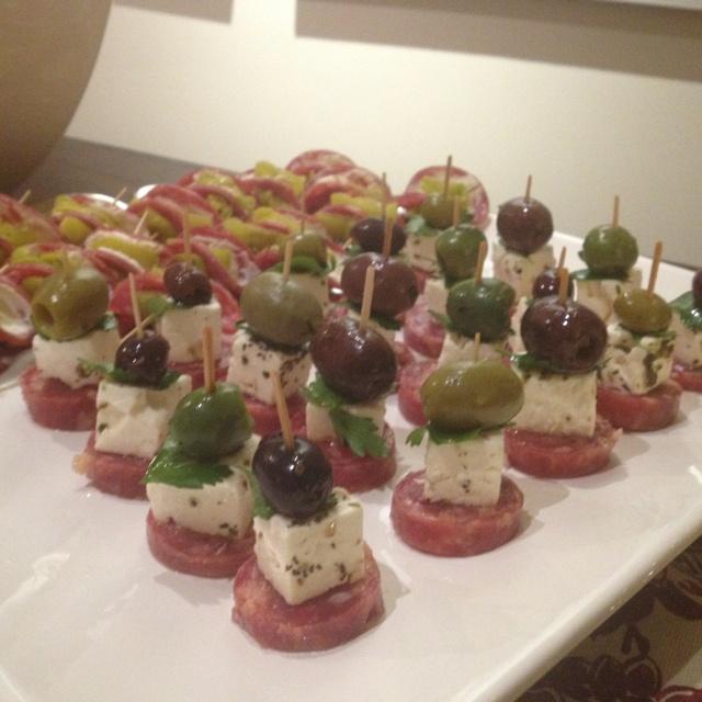 Christmas Appetizer Plates