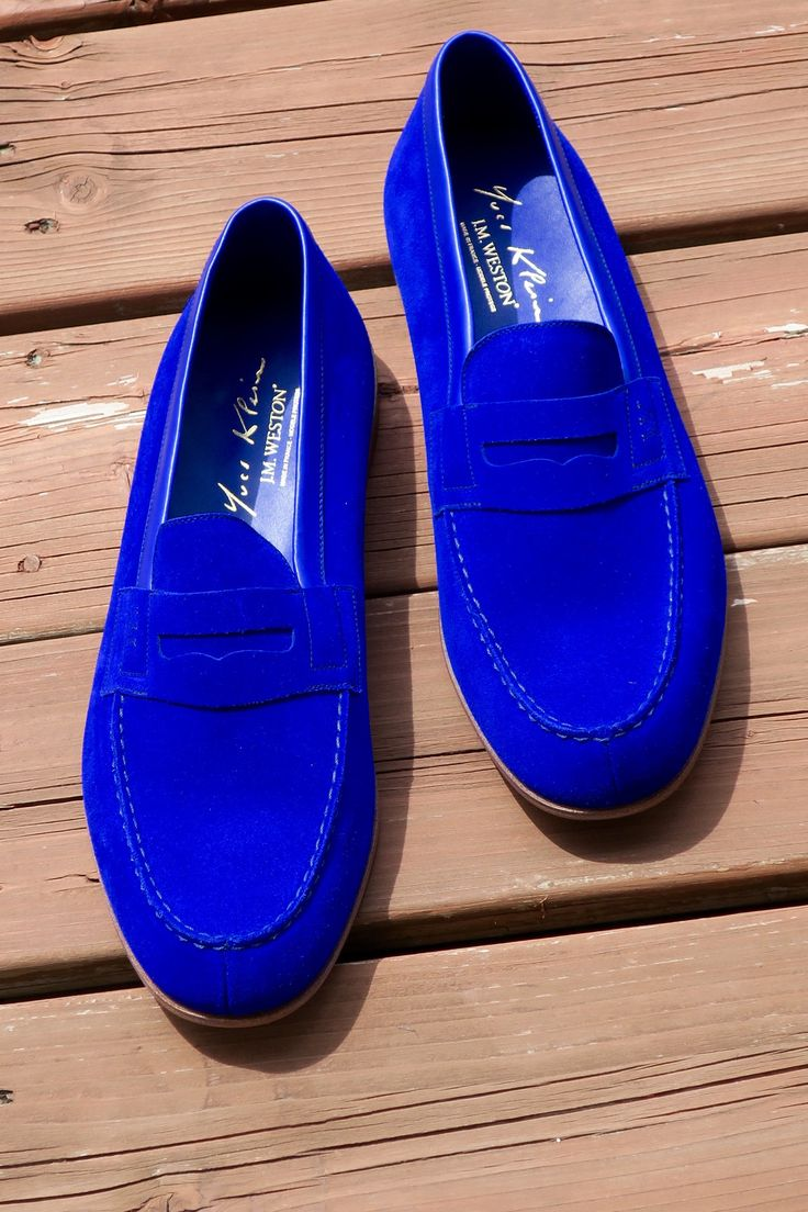 Brand new JM Weston Le Moc Yves Klein Limited edition - Yves Klein Blue Suede