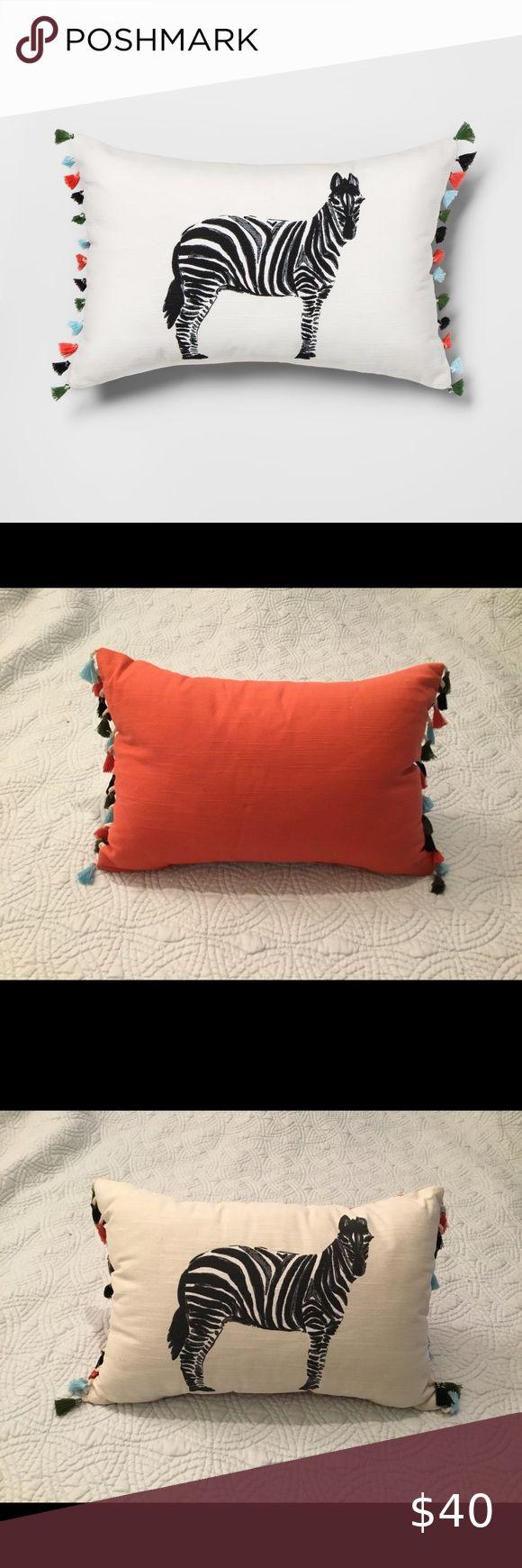 Zebra Throw Pillow Nwot Zebra Pillows Throw Pillows Pillows