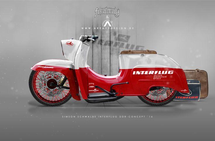 Simson Schwalbe Custom Concept im DDR Interflug-Style-Concept von AREA12DESIGN & VEB-KUSTOMS