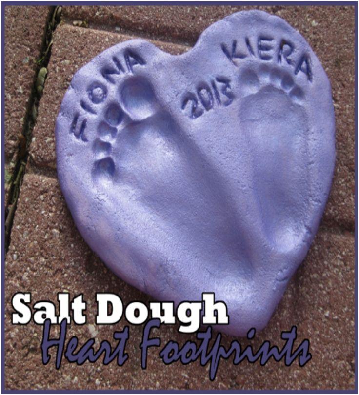 Salt Dough Footprint Heart