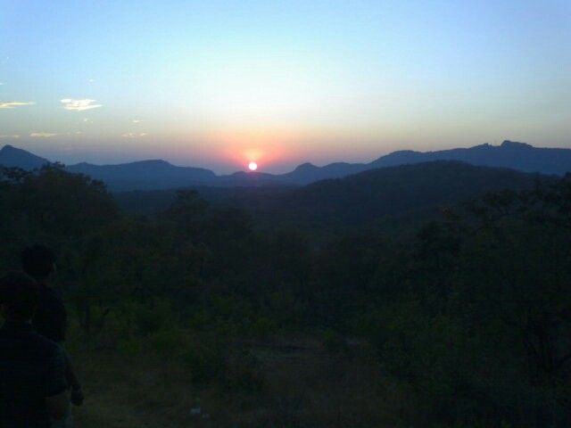 Sunset in Pachmarhi,  India.