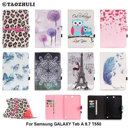 For Samsung Galaxy Tab A 9.7 T550 T551 T555 Cover Stand Cartoon Leather Case For Samsung Galaxy Tab A SM-T550 Tablet Smart Case  — 661.47 руб. —