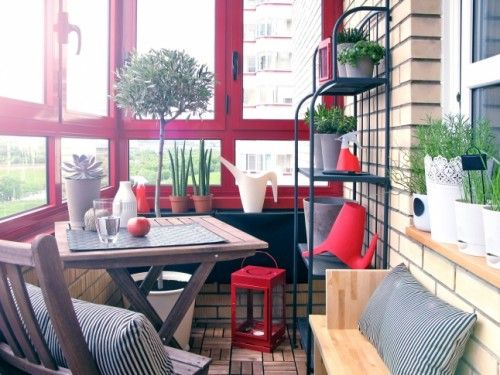 Cute cozy balcony decor