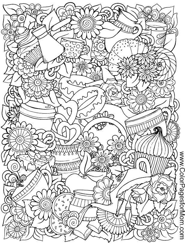 coffee hearts flower Blume fleur fiore flor цветок  květina  flor blomma coloring page printable adults prontable Kleuren voor volwassenen Färbung für Erwachsene coloriage pour adultes colorare per adulti para colorear para adultos раскраски для взрослых omalovánky pro dospělé colorir para adultos färgsätta för vuxna farve for voksne väritys aikuiset difficult detailed anti-stress